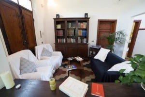 Sala lettura e musica B&B Villa Sunrise Lucca