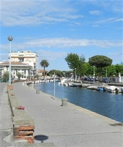 Viareggio sea and beach on the Versilia coast